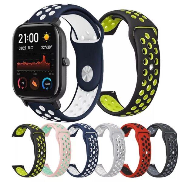 Pulsos Sports para Amazfit o Smartwatch 20mm Colores