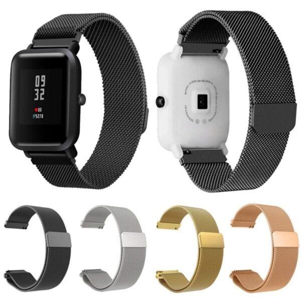 Pulsos Milanese Para Amazfit o Smartwatch 20mm Acero Colores