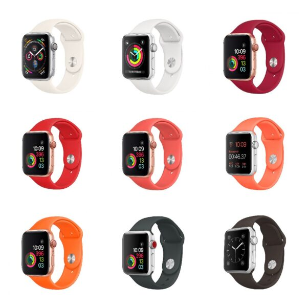 Pulsos Silicona para Apple Watch, 42/44mm, Series 1,2,3,4,5,6,SE