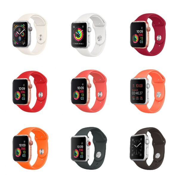 Pulsos Silicona para Apple Watch, 38/40mm Series 1,2,3,4,5,6,SE