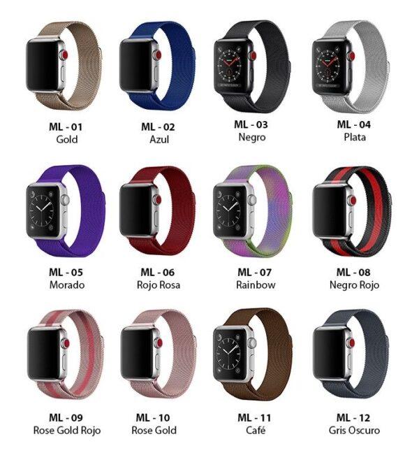 Pulso Milanese para Apple Watch, 38/40mm, Series 1,2,3,4,5,6,SE