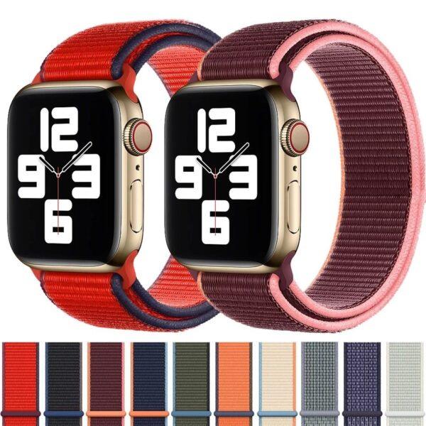 Pulsos Nylon Loop para Apple Watch, 42/44mm, Serie 1,2,3,4,5,6,SE