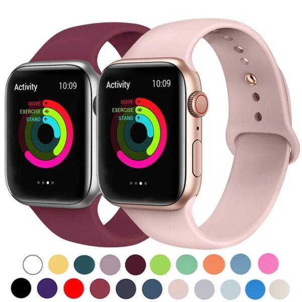 Pulsos silicona para Apple Watch