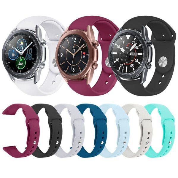 Pulsos En Silicona Para Smartwatch Samsung 20mm 22mm Colores