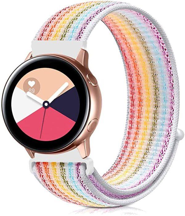 Pulsos En Nylon Loop Para Smartwatch Samsung 20mm 22mm Colores
