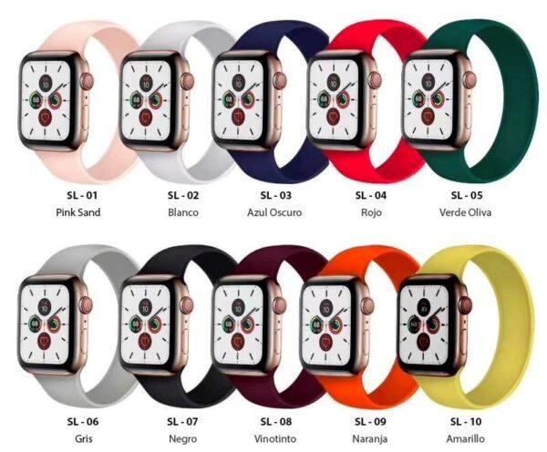 Pulsos Solo Loop para Apple Watch 42/44mm, Series 1,2,3,4,5,6,SE