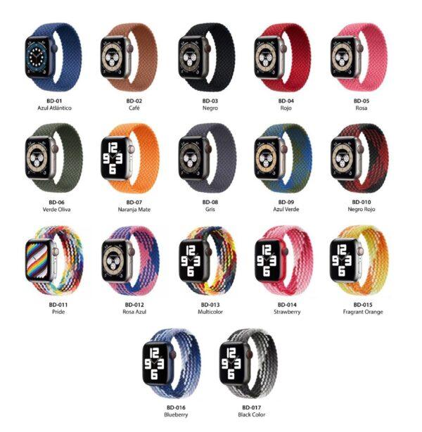 Pulsos Braided Solo Loop para Apple Watch 42/44mm, Series 1,2,3,4,5,6,SE
