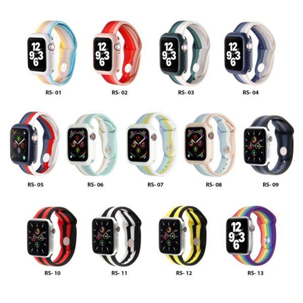 Pulsos Rainbow Silicona para Apple Watch, 42/44mm, Series 1,2,3,4,5,6,SE