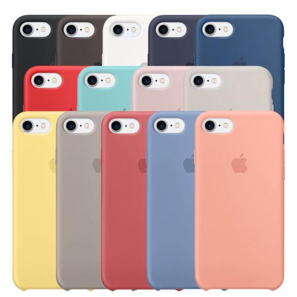 Estuche En Silicona Para IPHONE 7/8 Colores Varios