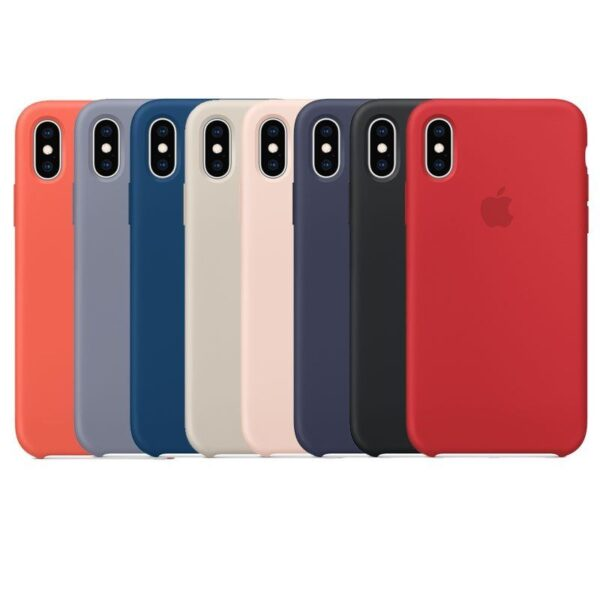 Estuche En Silicona Para IPHONE X/ XS/ XS MAX Colores Varios